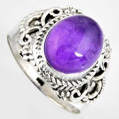 925 silver 5.31cts natural purple amethyst solitaire ring jewelry size 8 p95798