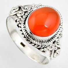 925 sterling silver 4.92cts natural honey onyx solitaire ring size 5.5 p95879