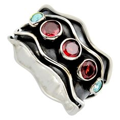 2.41cts natural red garnet topaz 925 sterling silver ring jewelry size 9 p96335