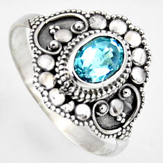 2.09cts natural blue topaz 925 silver solitaire ring jewelry size 6 p96655
