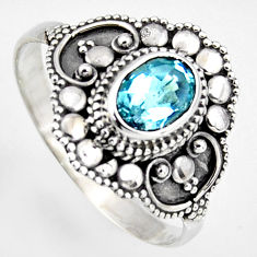 2.19cts solitaire natural blue topaz 925 silver ring jewelry size 8 p96666