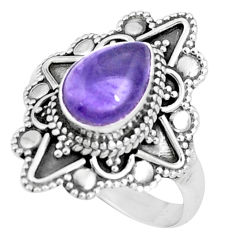 925 sterling silver 2.46cts natural purple amethyst solitaire ring size 9 p9844