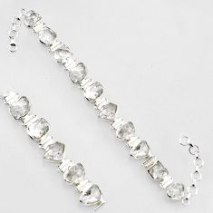 61.41cts natural white herkimer diamond 925 silver tennis bracelet jewelry r1392