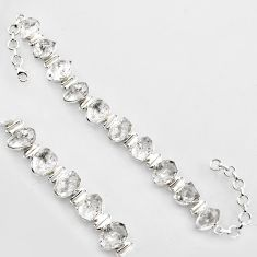60.87cts natural white herkimer diamond sterling silver tennis bracelet r1393