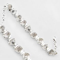 44.30cts natural white herkimer diamond 925 silver tennis bracelet jewelry r1396