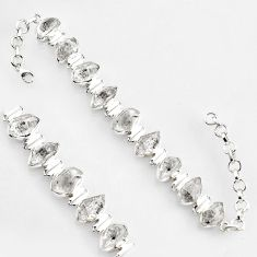 50.98cts natural white herkimer diamond sterling silver tennis bracelet r1397