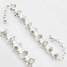 48.62cts natural white herkimer diamond 925 silver tennis bracelet jewelry r1398