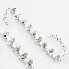50.98cts natural white herkimer diamond 925 silver tennis bracelet r1399