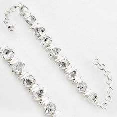 925 silver 47.26cts natural white herkimer diamond tennis bracelet jewelry r1400