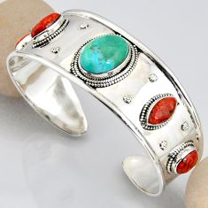 925 silver 29.87cts blue arizona mohave turquoise adjustable bangle r3752