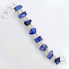 925 sterling silver 65.50cts natural blue tanzanite rough bracelet jewelry r3812