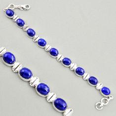 39.89cts natural blue lapis lazuli 925 sterling silver tennis bracelet r4246