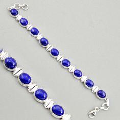40.34cts natural blue lapis lazuli 925 sterling silver tennis bracelet r4257