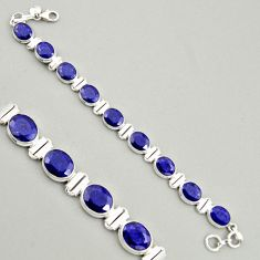 38.91cts natural blue sapphire 925 sterling silver tennis bracelet jewelry r4301