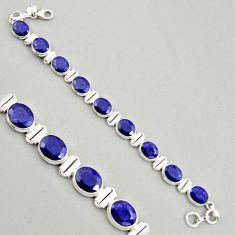 39.65cts natural blue sapphire 925 sterling silver tennis bracelet jewelry r4303