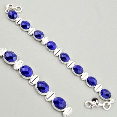 32.83cts natural blue sapphire 925 sterling silver tennis bracelet jewelry r4305