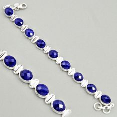 37.01cts natural blue sapphire 925 sterling silver tennis bracelet jewelry r4311