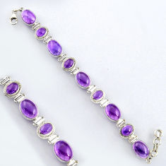 43.58cts natural purple amethyst 925 sterling silver tennis bracelet r4647