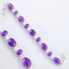 925 sterling silver 40.36cts natural purple amethyst tennis bracelet r4648