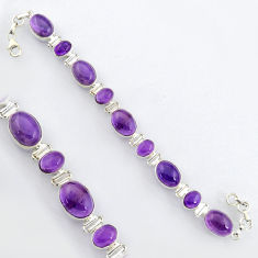 41.06cts natural purple amethyst 925 sterling silver tennis bracelet r4649