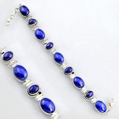 44.81cts natural blue lapis lazuli 925 sterling silver tennis bracelet r4654