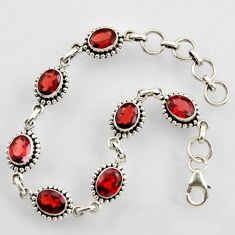 14.42cts natural red garnet 925 sterling silver tennis bracelet jewelry r4702