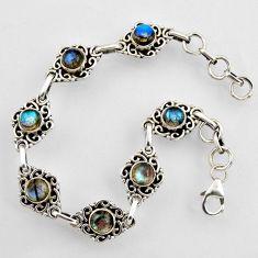 925 sterling silver 9.81cts natural blue labradorite tennis bracelet r4715