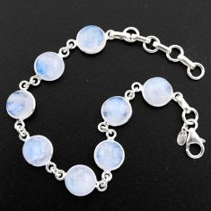 925 sterling silver 32.14cts natural rainbow moonstone tennis bracelet r4718