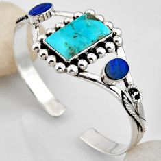 14.48cts blue arizona mohave turquoise 925 silver adjustable bangle r4940