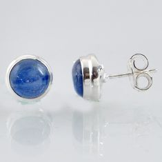 6.15cts natural blue kyanite 925 sterling silver stud earrings jewelry r1003