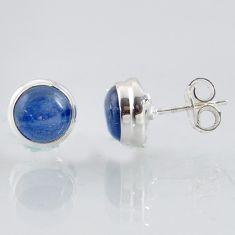 6.49cts natural blue kyanite 925 sterling silver stud earrings jewelry r1009