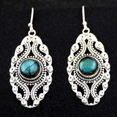 6.68cts natural blue labradorite 925 sterling silver dangle earrings r1880