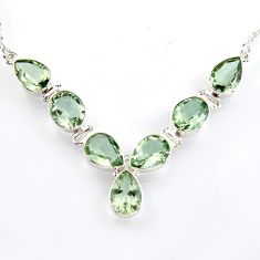 925 sterling silver 39.36cts natural green amethyst oval necklace jewelry r4963