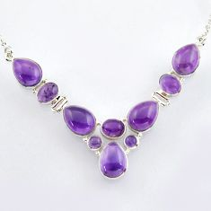 925 sterling silver 32.74cts natural purple amethyst necklace jewelry r4990