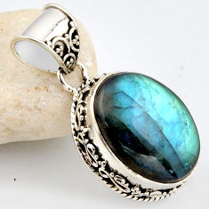 16.00cts natural blue labradorite 925 sterling silver pendant jewelry r1187