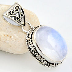 13.07cts natural rainbow moonstone 925 sterling silver pendant jewelry r1250