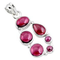 11.25cts natural red garnet pear 925 sterling silver pendant jewelry r4825