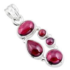 9.42cts natural red garnet pear 925 sterling silver pendant jewelry r4830