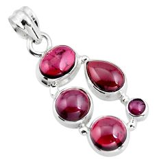 925 sterling silver 12.71cts natural red garnet pear pendant jewelry r4834