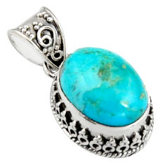 9.63cts green arizona mohave turquoise 925 sterling silver pendant jewelry r4842