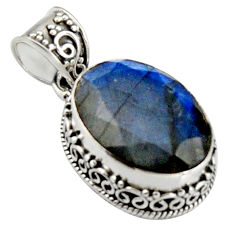 13.34cts natural blue labradorite 925 sterling silver pendant jewelry r4893