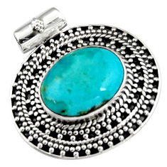 10.54cts green arizona mohave turquoise 925 sterling silver pendant r5230