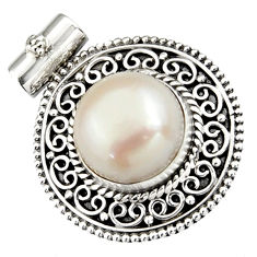 7.13cts natural white pearl 925 sterling silver pendant jewelry r5254