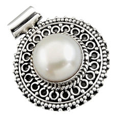 7.10cts natural white pearl 925 sterling silver pendant jewelry r5259