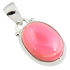 13.15cts natural pink queen conch shell oval 925 sterling silver pendant r5367