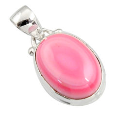 13.08cts natural pink queen conch shell 925 sterling silver pendant r5378