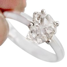 3.39cts natural white diamond 925 sterling silver tennis ring size 8 r1421