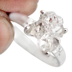 3.75cts natural white diamond 925 sterling silver tennis ring size 6 r1422