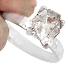 3.75cts natural white diamond 925 sterling silver tennis ring size 6 r1423