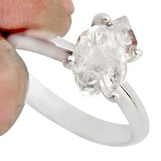 3.25cts natural white diamond 925 sterling silver tennis ring size 6 r1425